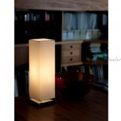 3859BIA Abajur Masa Lambası (Beyaz) - Thumbnail