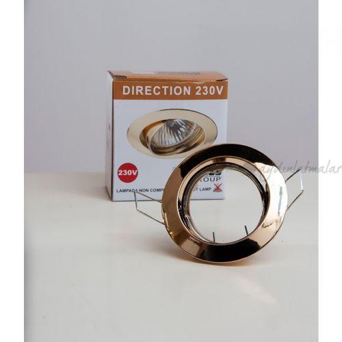 24524 Direction S Sıvaaltı Yönlendirilebilir Tavan Armatür (Altın Rengi)