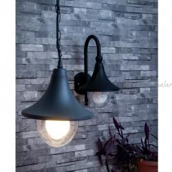 LEONARDO LUCE ITALIA - Morriz 100W E27 Dış Mekan Sarkıt Lamba (Siyah)